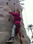 A little rock wall climbing